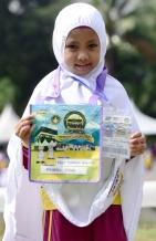 SHAH ALAM 23 AUGUST 2017. Peserta Program Simulasi Haji Cilik 2017, Nur Damia Hawani Shahril 6. STR/MOHD ASRI SAIFUDDIN MAMAT